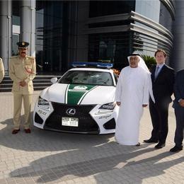 Полицейский автопарк Дубая пополнился Lexus RC F