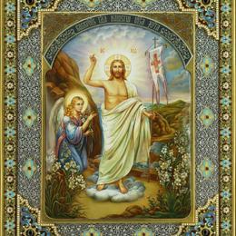 Икона Воскресение Христово 34 см