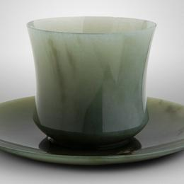 Чашка с блюдцем (без металла)
