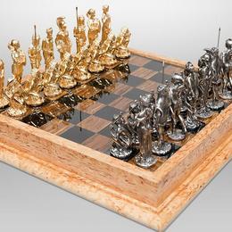 Шахматы «Амазонки» (латунь, камень)