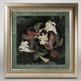 """Флорентийская мозаика """"Цветы и птицы"""""""