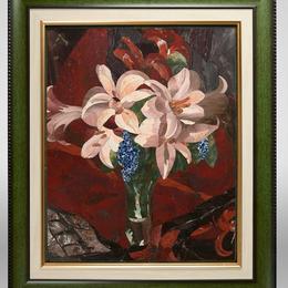 """Мозаичное панно """"Букет с лилиями"""""""