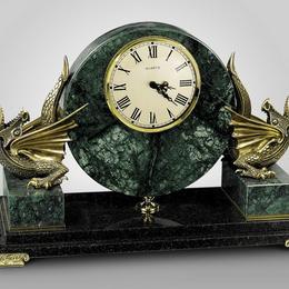 """Каминные часы """"Драконы"""""""
