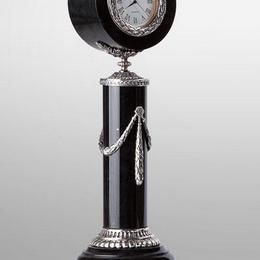 Каминные часы Фаберже в черном