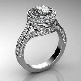 Кольцо с бриллиантом 1 карат «Solo»