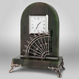 """Настольные часы """"Отдых в летнем саду"""""""