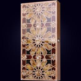 Нарды Орнамент (янтарь, карельская берёза)