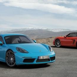 Новый четырехцилиндровый Porsche 718 Cayman