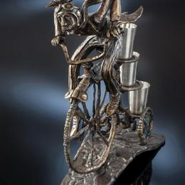 """Рюмочный набор """"Велосипедист"""" (бронза)"""