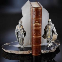 Подставка для книг Кирилл и Мефодий (нефрит)