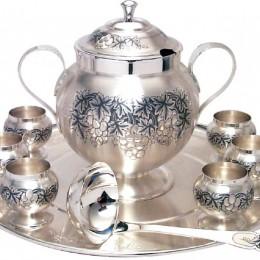 Набор для глинтвейна (серебро, чернение)