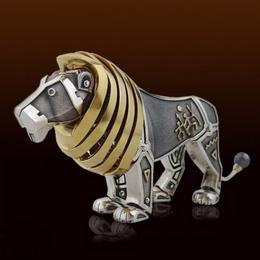 Статуэтка кинетическая Лев (серебро, эмаль, hi-tech)