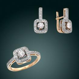 Кольцо и серьги «Комплимент»