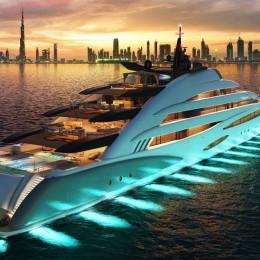 Концепт 120-метровой яхты Amara – это настоящий курорт на воде!