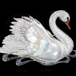 Брошь Лебедь