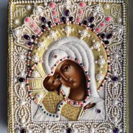 Жемчужное и золотное шитьё икон