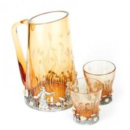 Кувшин и стаканы для воды Ромашковое поле