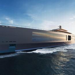 120-метровая супер-яхта с бассейном на уровне моря и управляемым садом