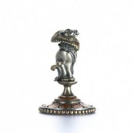 Статуэтка из серебра Лев