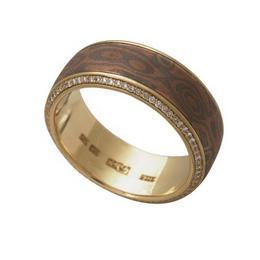 """Обручальное кольцо """"Мокуме"""" золото"""