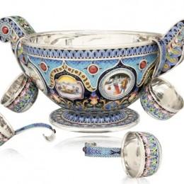 Братина Славянская (эмаль, серебро, гранаты)