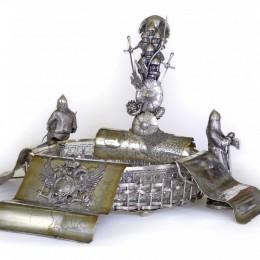 Монументальная ваза Россия (серебро, хрусталь)