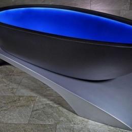 С легким паром: ванна из углеродного волокна с подсветкой
