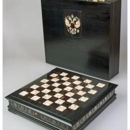 Шахматы Президентские (янтарь, дуб)