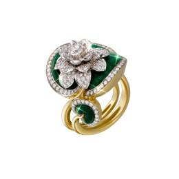 Кольцо «Водяная лилия» (жадеит – 18ct)