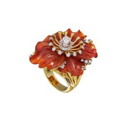 Кольцо «Камелия» (сердолик 24 ct)
