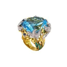 Кольцо «Тайны океана» (топаз 55 ct)