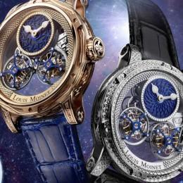 Часы Louis Moinet из лунного метеорита и земной коры
