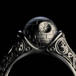 Обручальная Звезда Смерти – кольцо для фанатов «Звездных Войн»