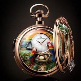 Карманные часы Jaquet Droz Parrot в честь 280-летия бренда
