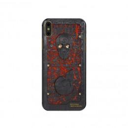 iPhone X Carbon Boss Lava Skull