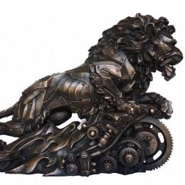 Скульптура бронза Техно-Лев (размер 62 см)