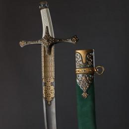 Украшенная сабля Татарская с уникальным дамаском