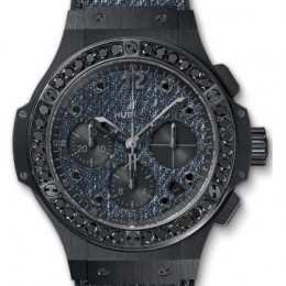 Hublot Big Bang Jeans Ceramic Black Diamonds 41 mm