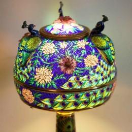 Лампа Три павлина