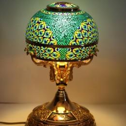 Лампа Павлин (серебро, витражная эмаль)