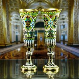 Пара бокалов (серебро, витражная эмаль)