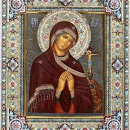 Икона Ахтырская Божья Матерь (эмаль и филигрань)