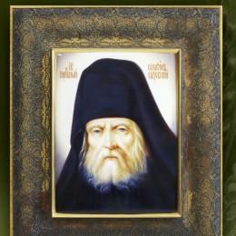 Икона Серафим Саровский (филигрань, финифть)