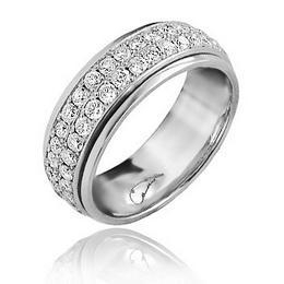 Свадебное кольцо с крутящимся центром