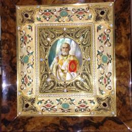 Николай Чудотворец (филигрань, серебро, камни)