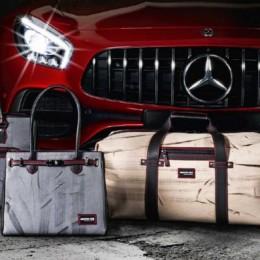 Mercedes представил коллекцию сумок, которые переехал AMG GT R