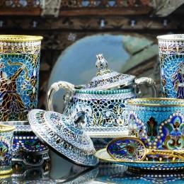 Чайный набор Кафимская жемчужина (витражная эмаль)