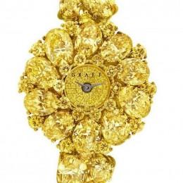 Часы из желтых бриллиантов от Graff