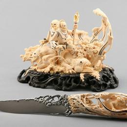 """Авторский нож """"Пришельцы"""""""