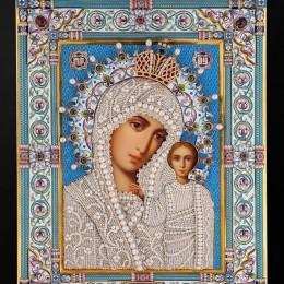 Ювелирная икона Казанская (31 см)